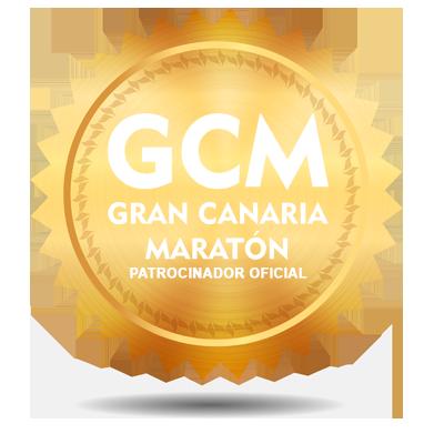 Sello de patrocinador oficial de Gran Canaria Maratón informática