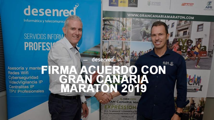 El Gran Canaria Maratón GCM contará con los servicios de Desenred un año más para la edición de 2019